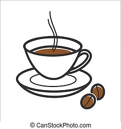Coffee cup for Cuba travel destination and famous culture landmark vector icon