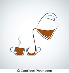 coffee cup glass pot background