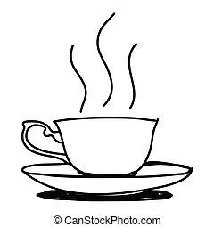 Coffee cup - Hand drawn