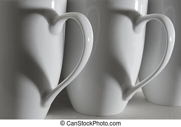 Coffee Cup Hearts