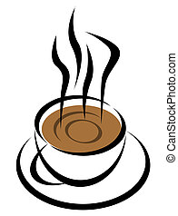 Coffee cup - Hot coffee cup illustration