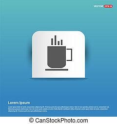 Coffee cup icon - Blue Sticker button