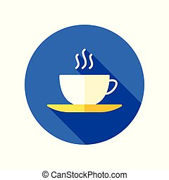 Coffee cup icon. Coffee break sign
