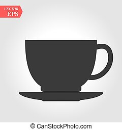 Coffee cup icon. Cup symbol for your design, logo, UI. Vector illustration, EPS10