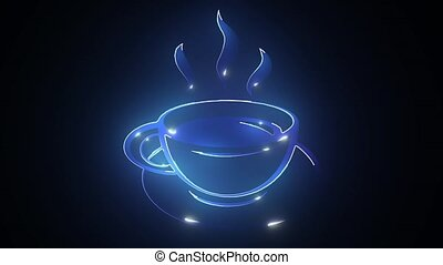 Coffee Cup icon digital animation