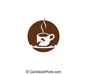 Coffee cup icon for break time symbol vector illustration