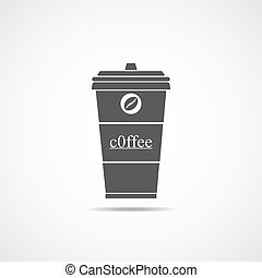 Coffee cup icon. Vector illustration