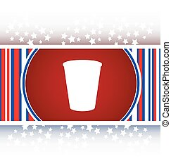 Coffee cup icon web button