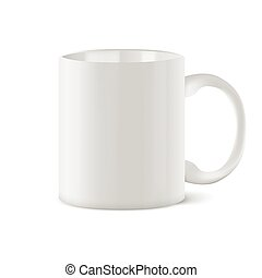 Coffee cup isolated on white background. - White coffee cup...