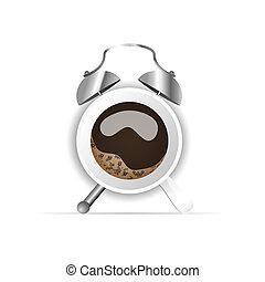 coffee cup like clock illustration