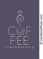 coffee cup logo menu design background