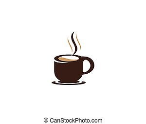 Coffee cup logo template vector icon design