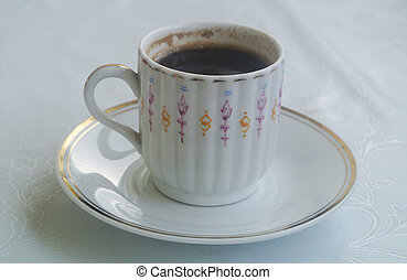 Coffee cup on a saucer