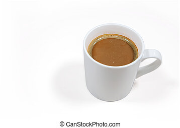 Coffee cup on a white background with clipping path