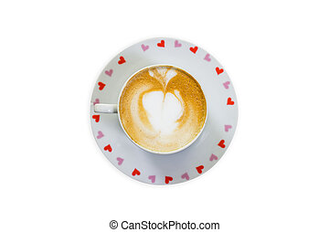 Coffee cup on isolated white background with clipping path.