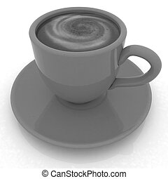Coffee cup on saucer