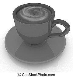 Coffee cup on saucer