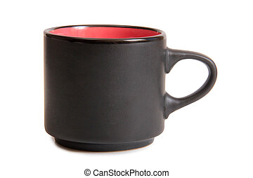 Coffee cup on white one