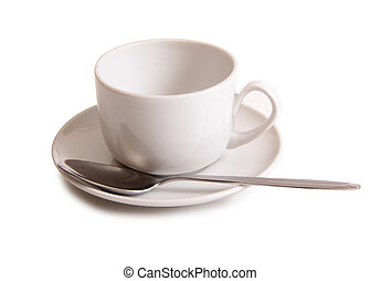Coffee cup on white three
