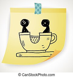 coffee cup play park doodle
