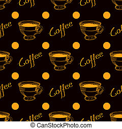 Coffee cup seamless background