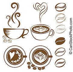 Coffee cup set vector