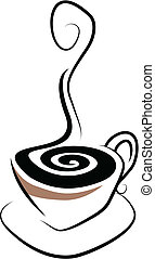 Coffee Cup - Simple stylised illustration of a steaming cup...