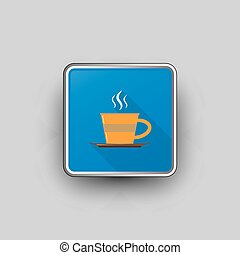 Coffee cup square icon