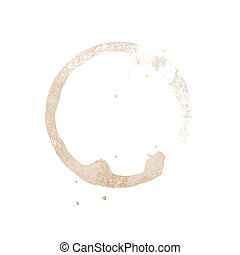 coffee cup stain