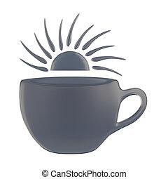 Coffee cup symbol conceptual design