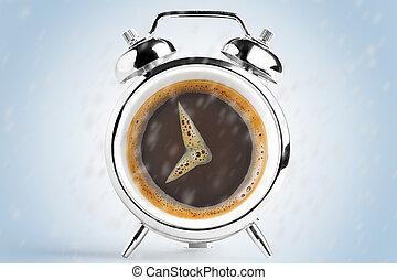 coffee cup time clock