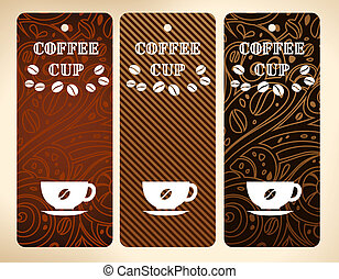 coffee cup vector banners