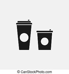 Coffee cup vector flat icon
