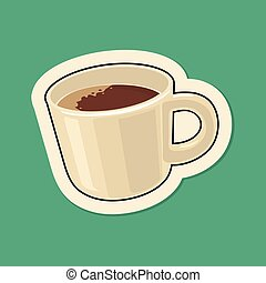 Coffee cup. Vector flat illustration