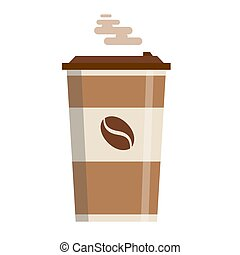 Coffee cup vector illustration isolated on background.