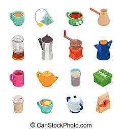 Coffee cup vector teacup icon isometric coffeecup and mug...