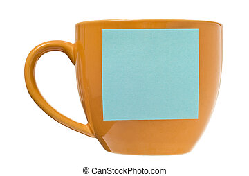 Coffee Cup With Blank Post-it Note