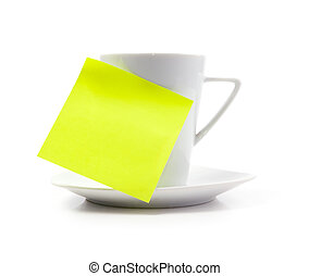 coffee cup with note