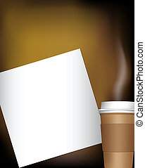 coffee cup with notepad