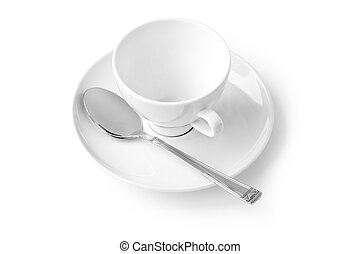 coffee cup with saucer isolated