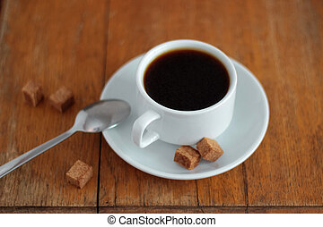 Coffee cup with sugar