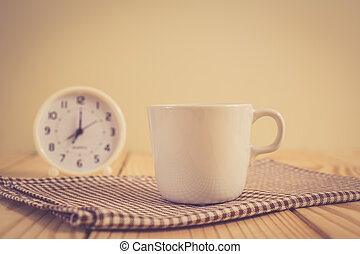 Coffee cup with vintage color effected