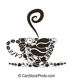 Coffee cup4 - The coffee cup consists of coffee subjects. A...