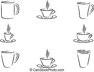 Coffee cups - Different type coffee cups