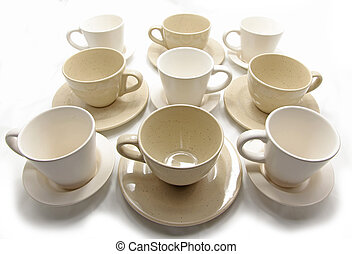 Coffee cups - Isolated coffee cups