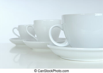 Coffee cups. Studio shooting.