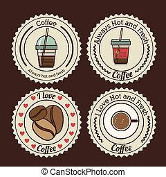 Coffee design over  background, vector illustration