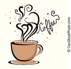 Coffee design over white background, vector illustration