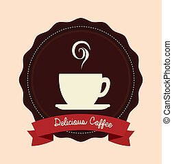 Coffee design - Cofee design over background, vector...