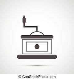 Coffee design.  Coffeemill icon
